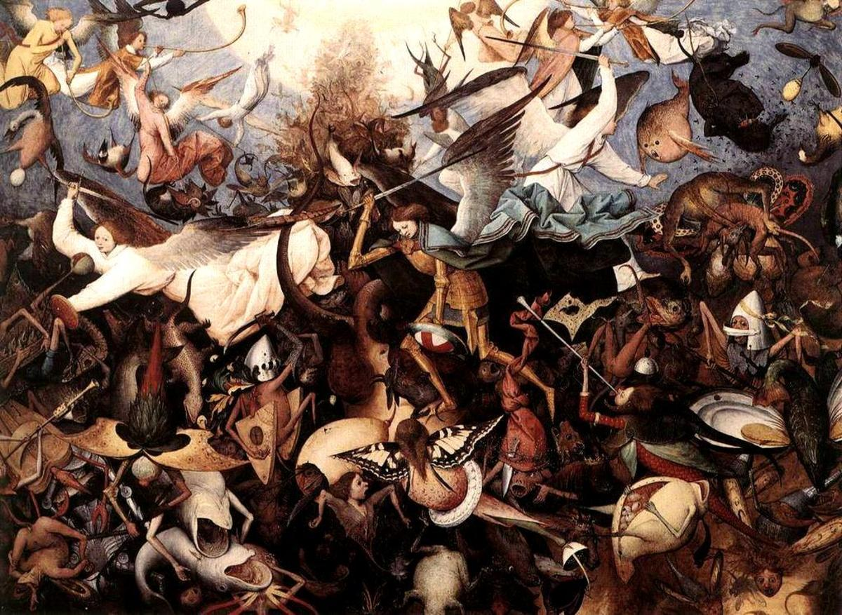 """Fall of the Rebel Angels"" - by Pieter Bruegel the Elder (1562)"