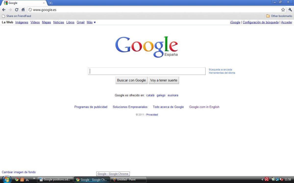 Spain Google Espana: www google es: Google Spain, Search, Webhp, www.google.es: Catalan, Galician, Basque, English
