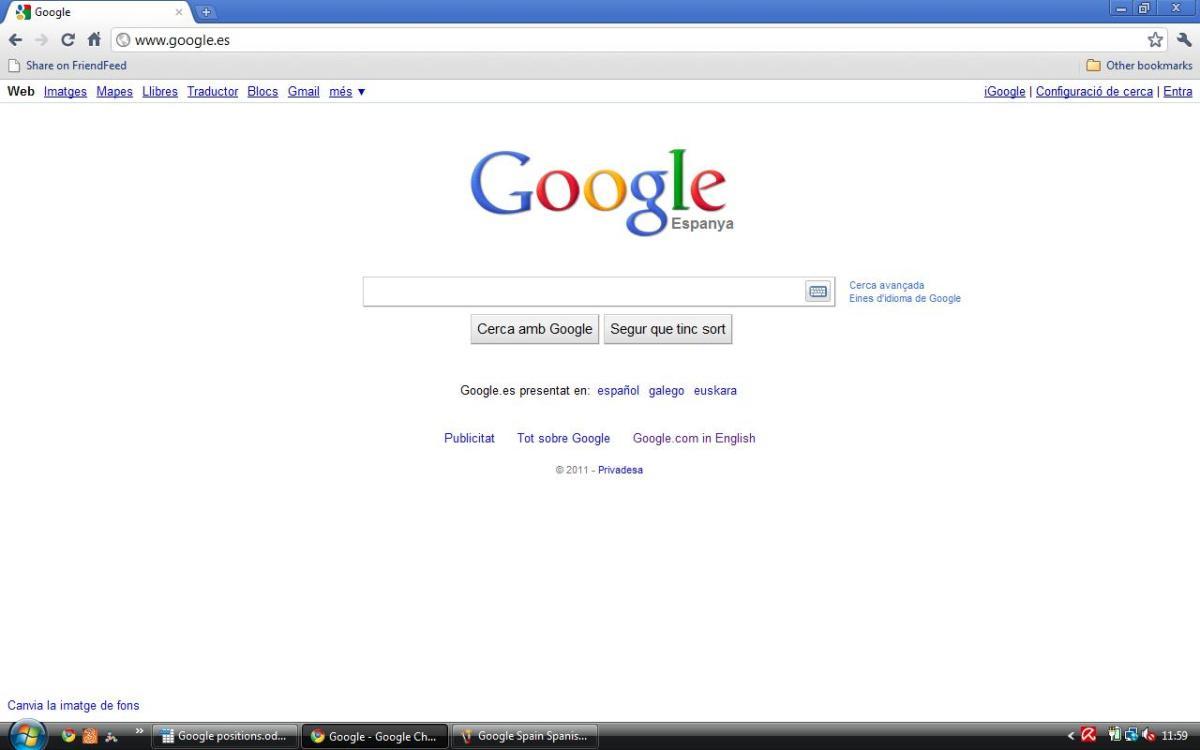 Spain Google Espanya in Catalan (Catala)