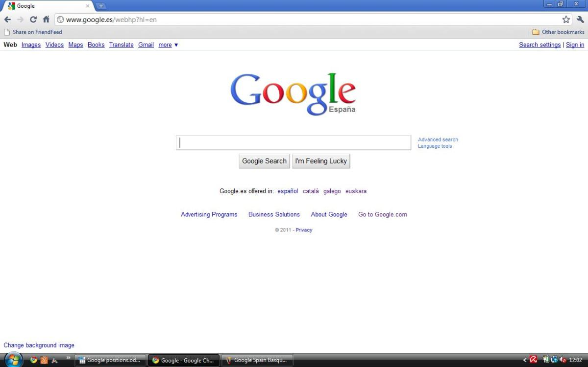 Spain Google Espana in English