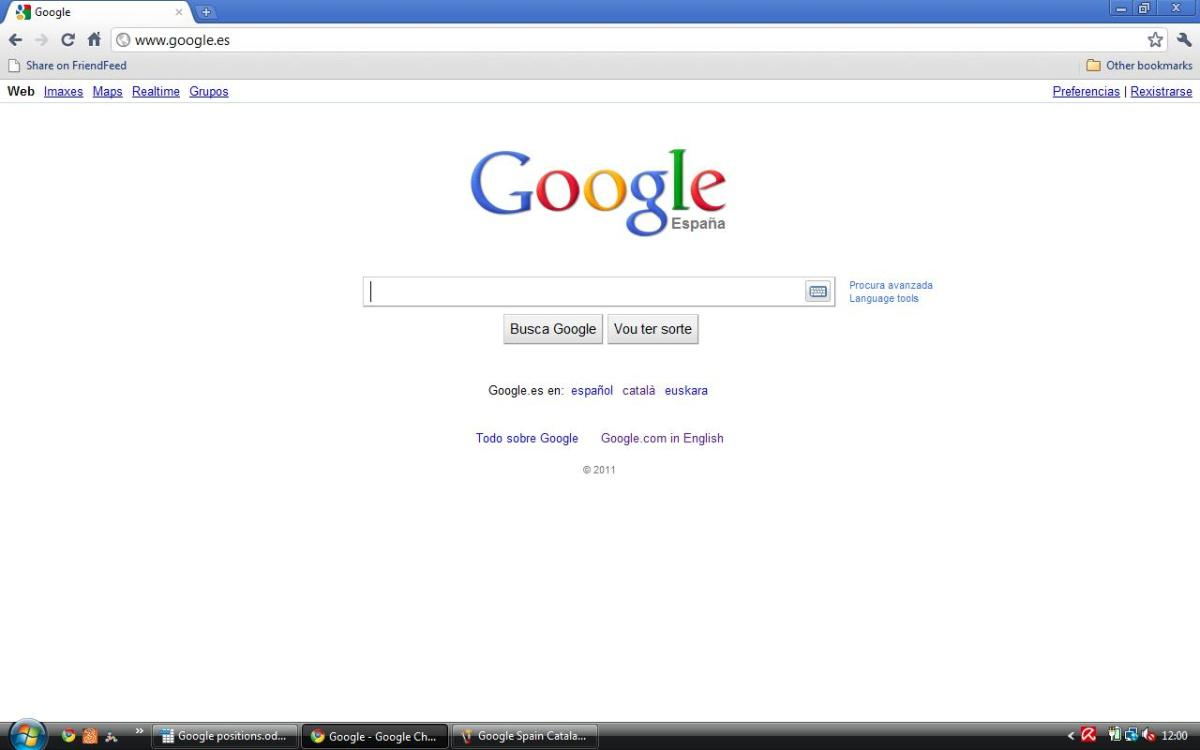 Spain Google Espana in Galician (Galego)
