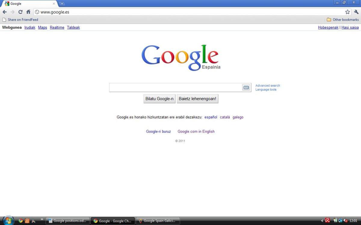Spain Google Espainia in Basque (Euskara)