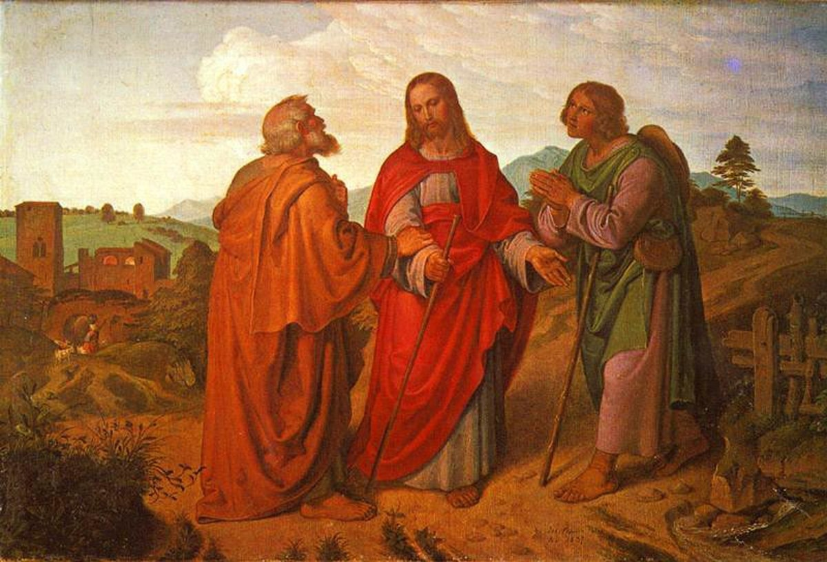 """The Road to Emmaus Appearance"" - by Joseph von Fhrich (1837) - Kunsthalle Bremen, Germany"