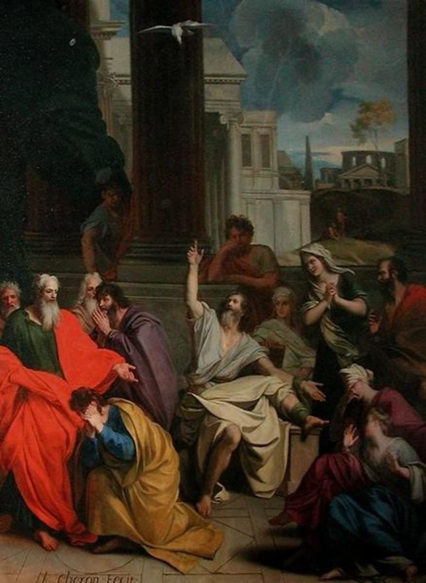 """The Prophecy of Agabus"" - by Louis Cheron (1660-1713)"