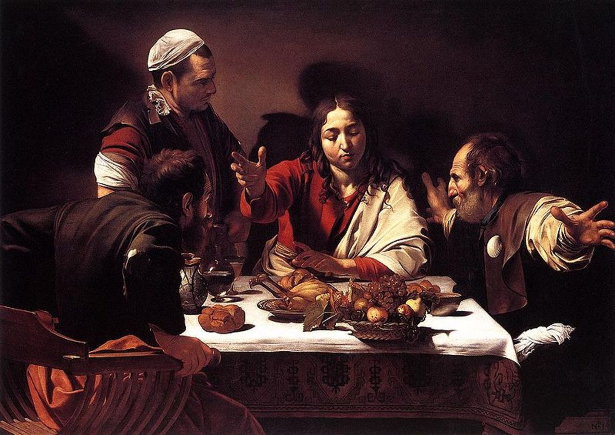 """The Supper at Emmaus"" - by Caravaggio (1601) - National Gallery - London"