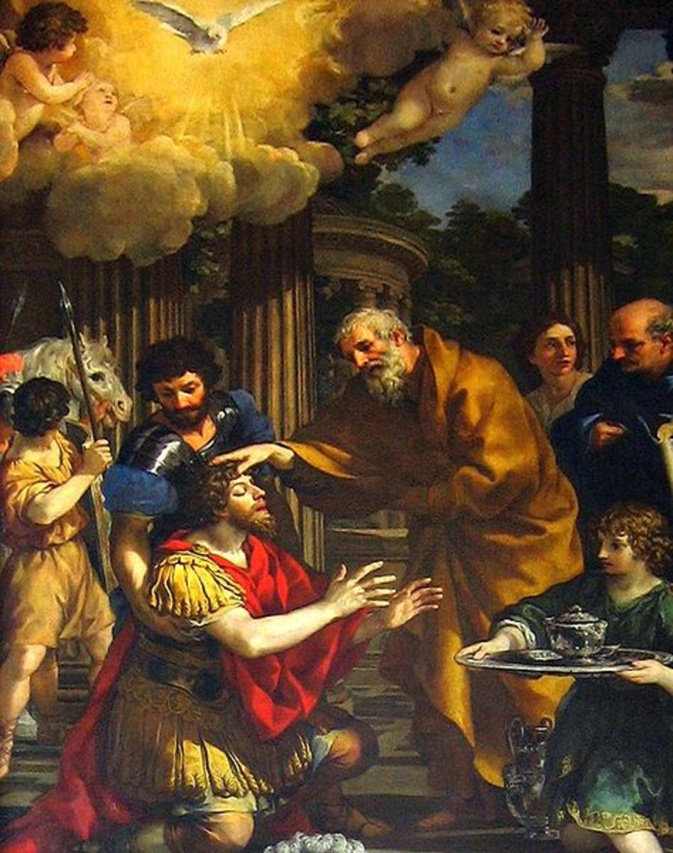 """Ananias restoring the sight of Saint Paul"" - by Pietro De Cortana (1631)"