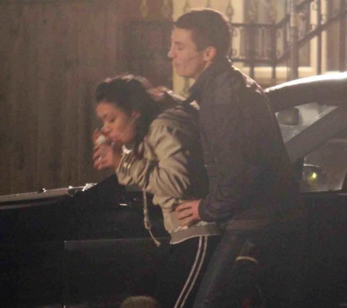 When Whitney changes her mind, Rob forces her in the car and to the party he has organised