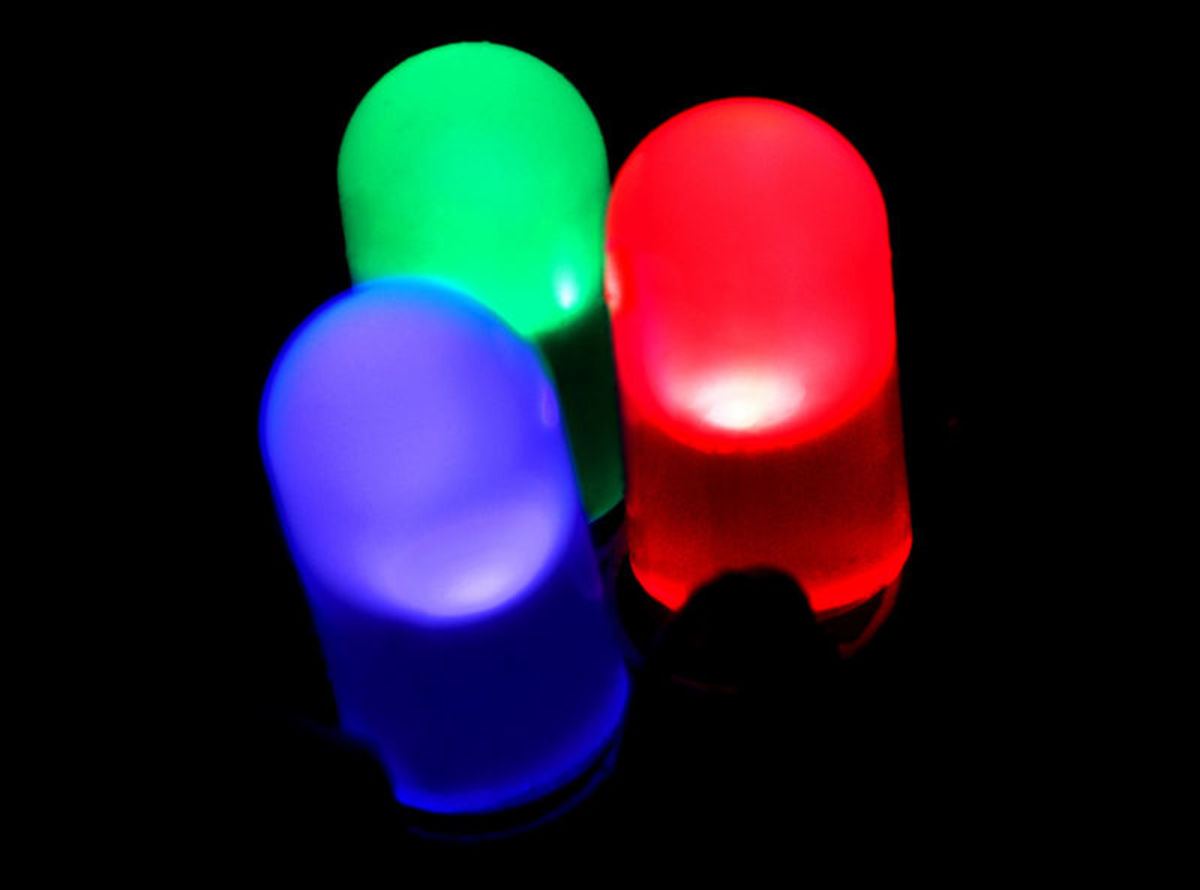 Green, Red, and Blue LEDs