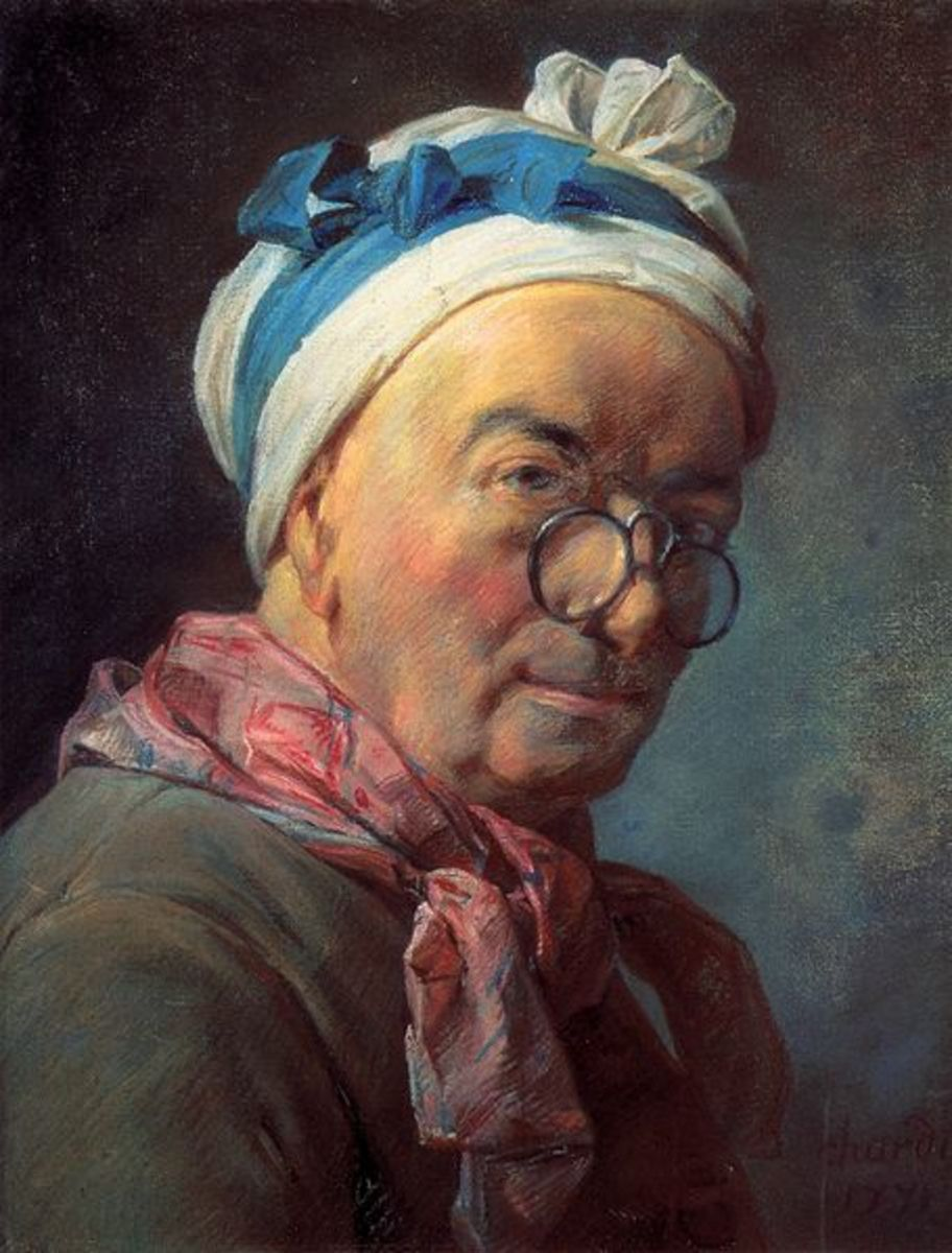 Jean-Baptiste Simon Chardin (1699 - 1779) Self Portrait 1771