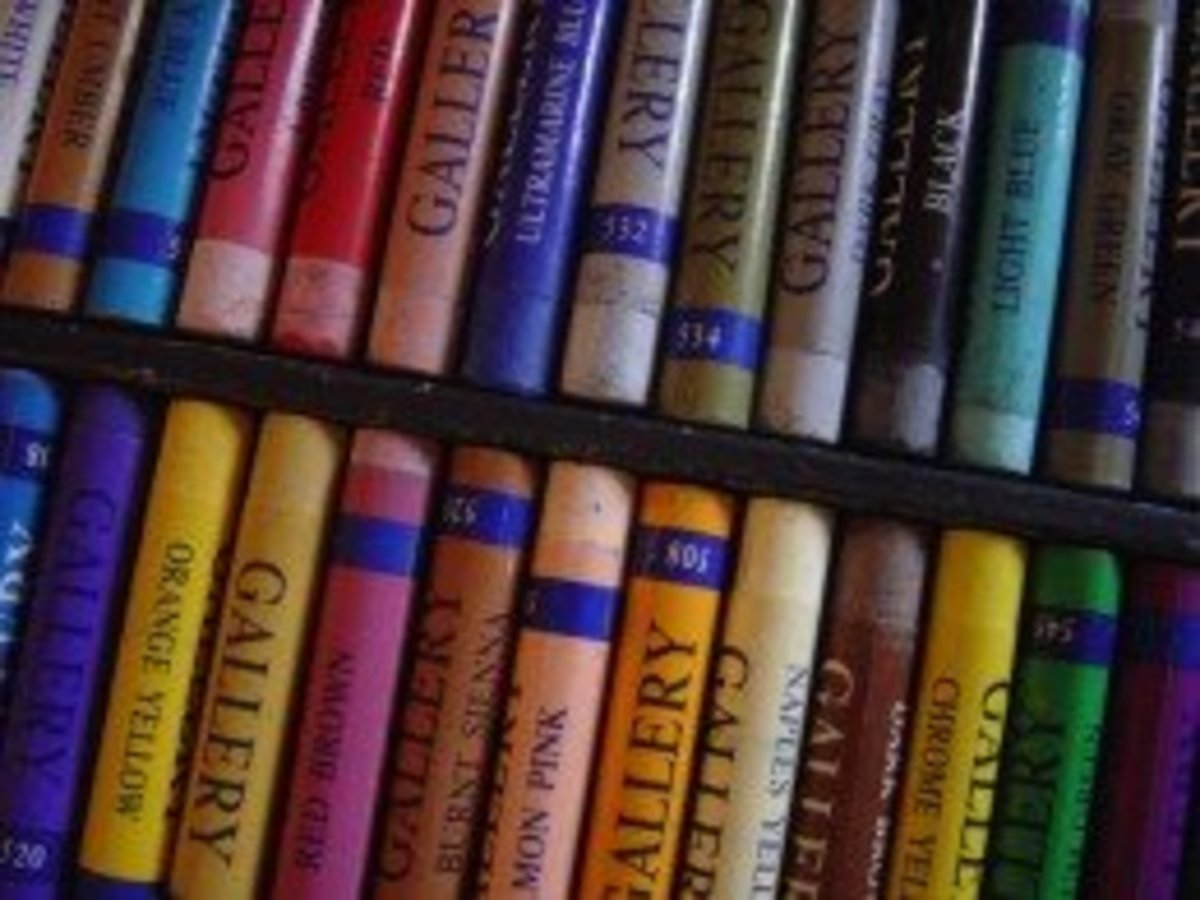 A box of colorful soft chalk pastels that could last for years