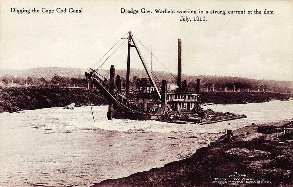 "The Dredge Boat ""Governor Warfiled"""