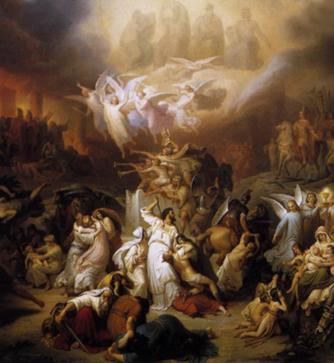 The Destruction of Jerusalem, Titus Wilhelm von Kaulbach (1805-1874)