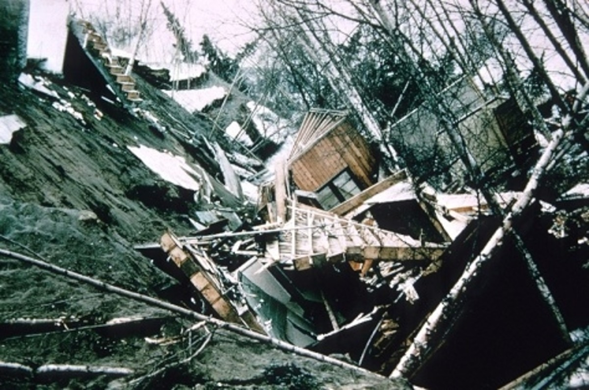 Alaska 1964 Good Friday earthquake damage.