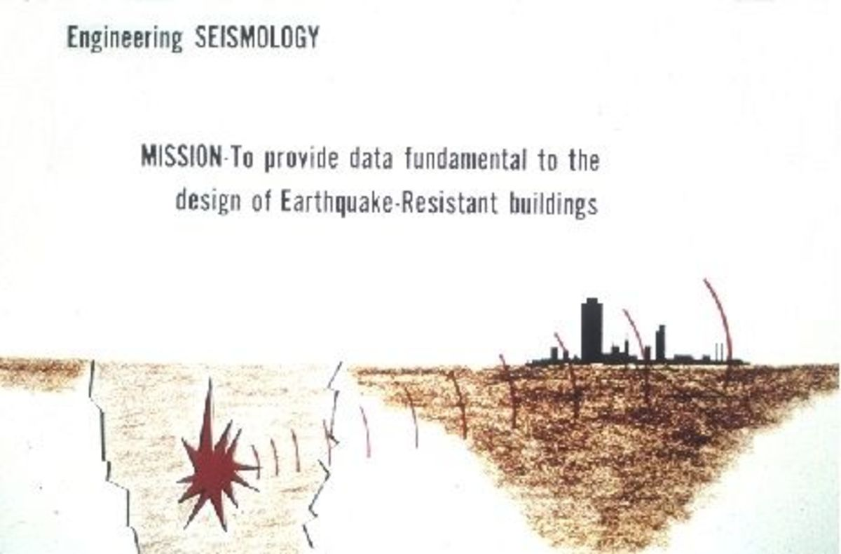 Graphic of earthquake epicenter and damage to man-made structures.