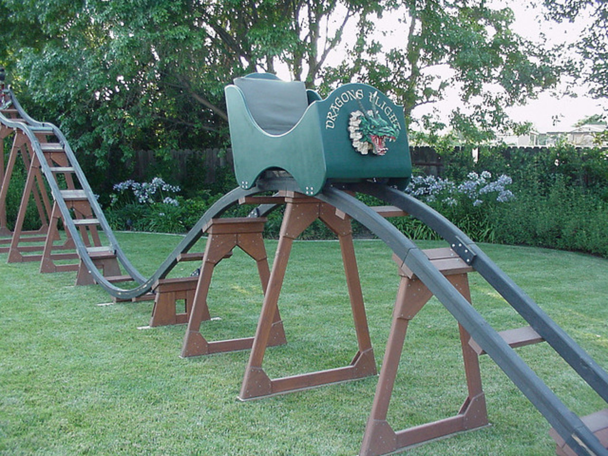 Roller Coaster In My Backyard : know how realistic this is, but I would love to build one of these