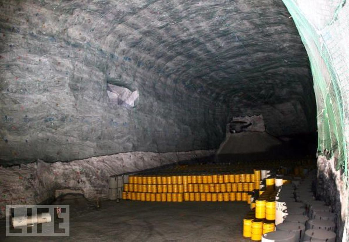 An example of a geological excavation used for disposal of radioactive waste