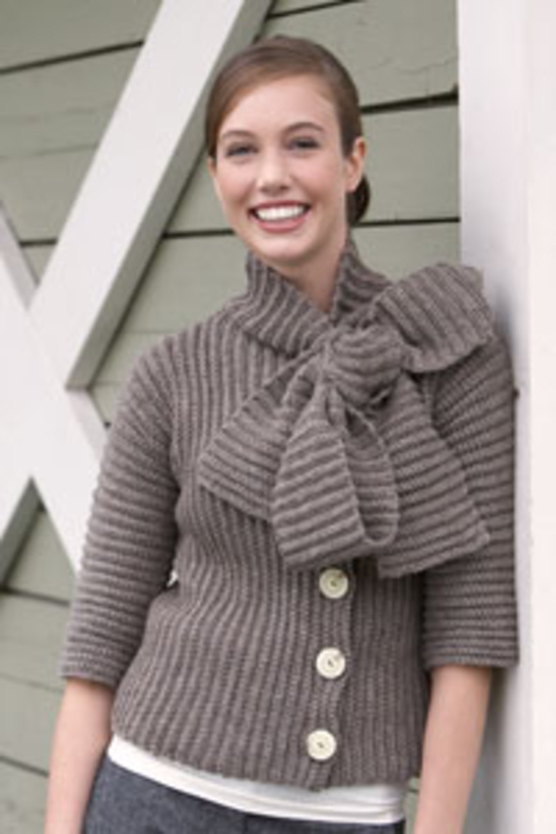 Big Bow Cardigan by Julia Vaconsin