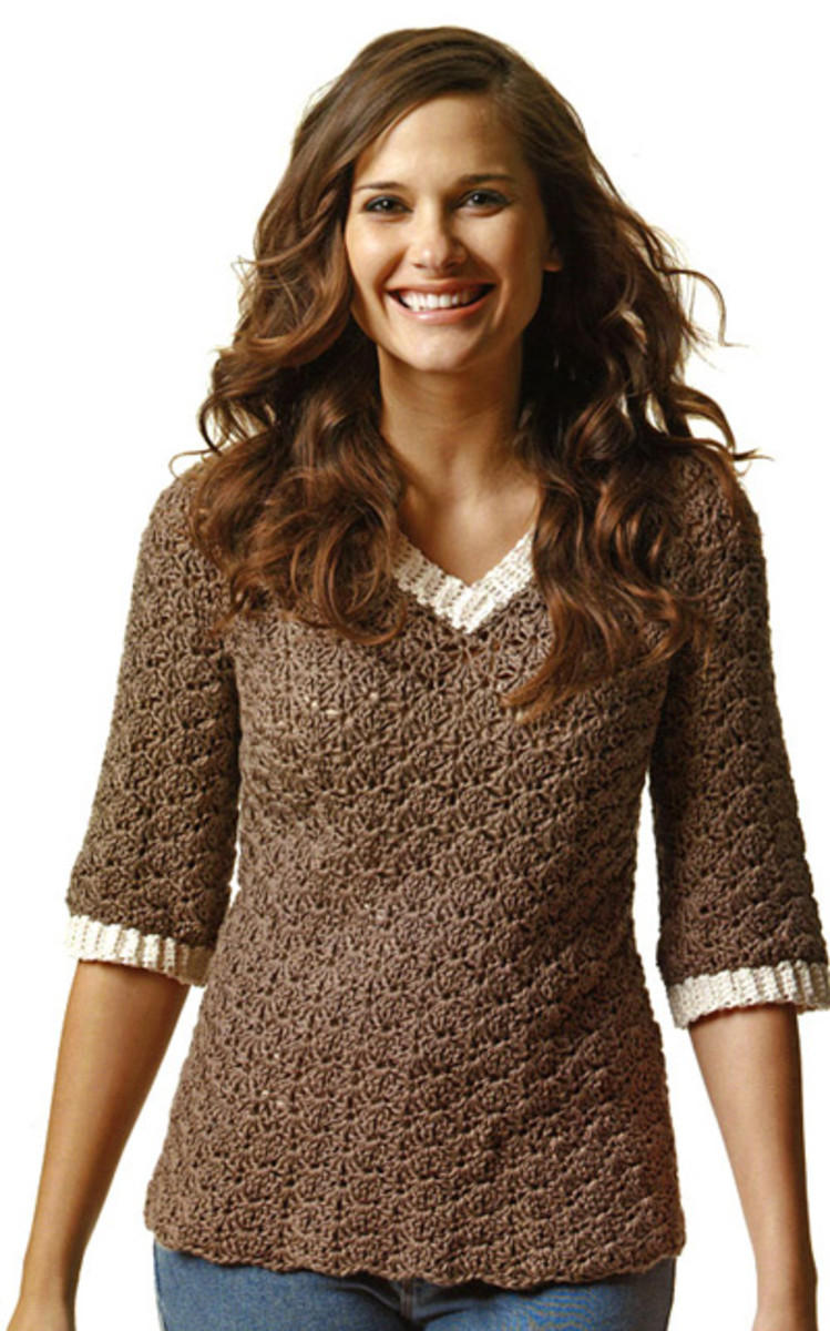 Great crochet sweater!