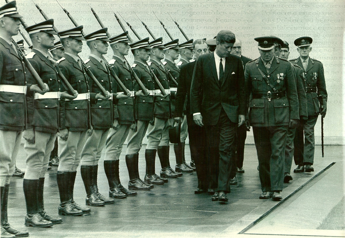 President John F Kennedy Visited The Easter Rising Memorial Park in Ireland in 1963