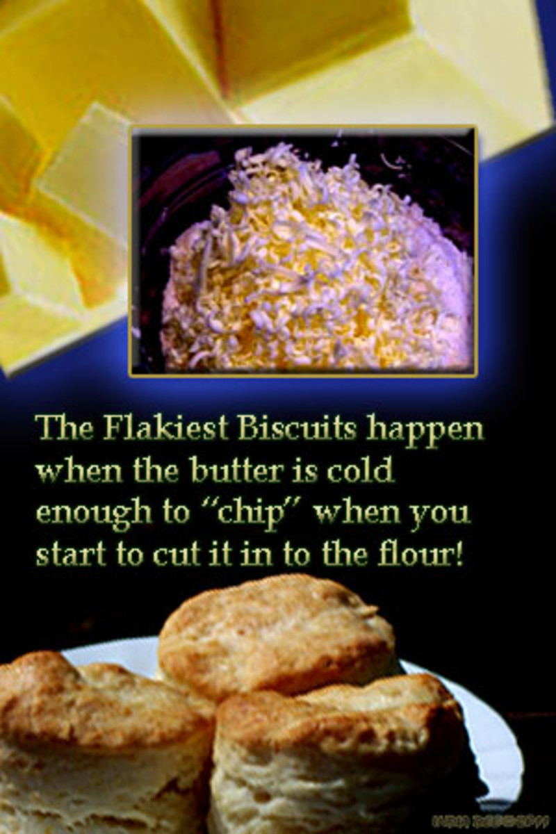 cold butter makes better biscuits and adds loads more flavor!