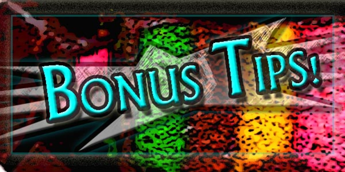 BAking Bonus Tips!