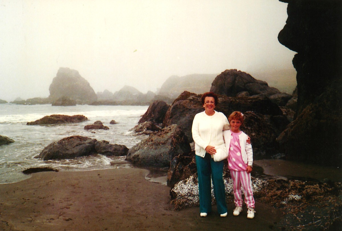 My mother and niece at Lone Ranch along the Oregon coastline.