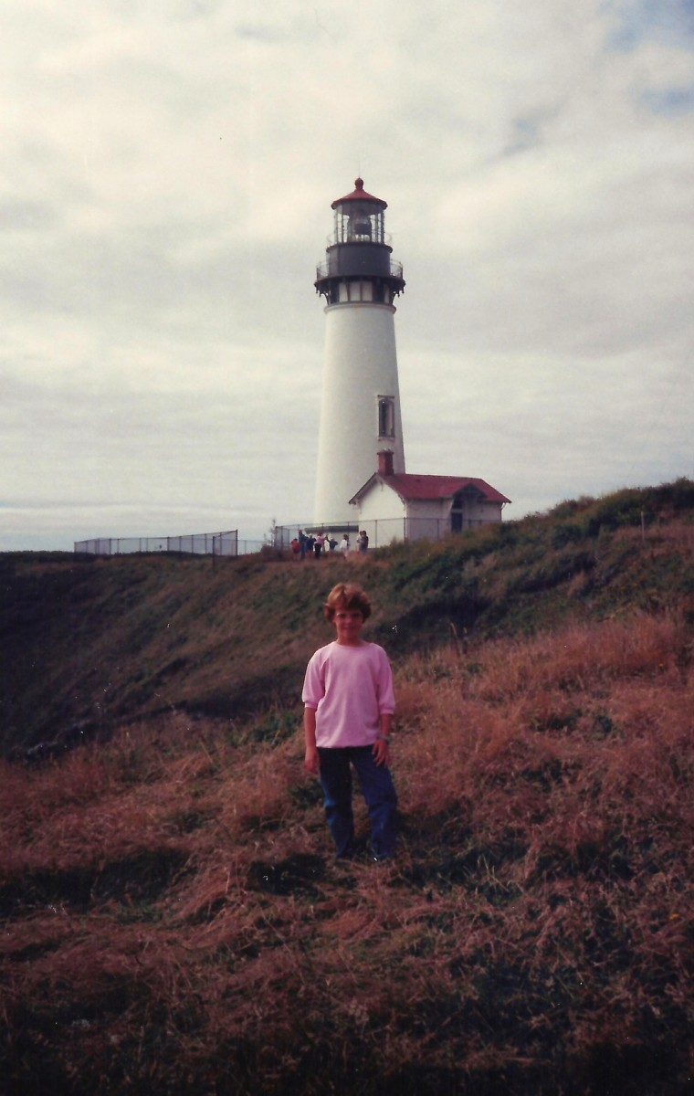 Yaquina Head Light-House and my niece.
