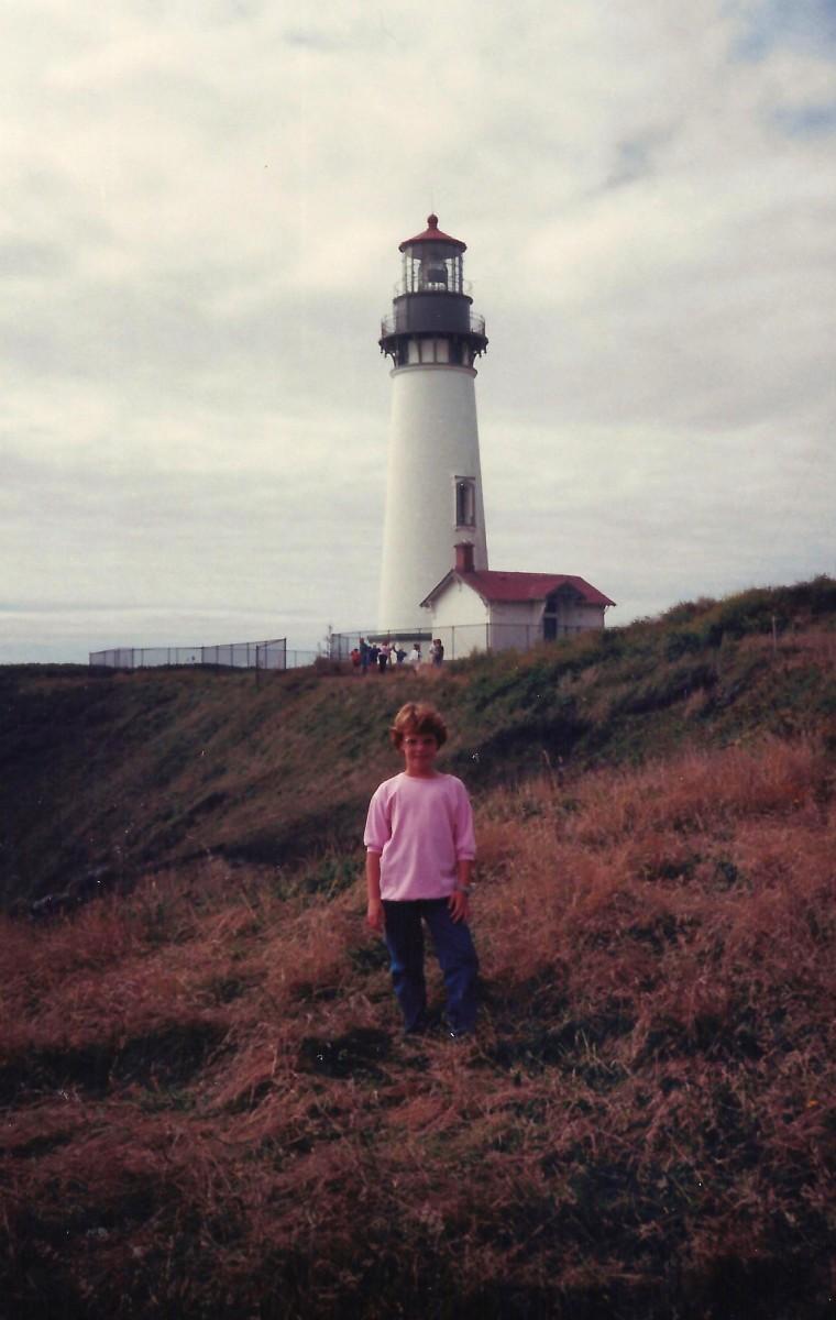 Yaquina Head Lighthouse and my niece.