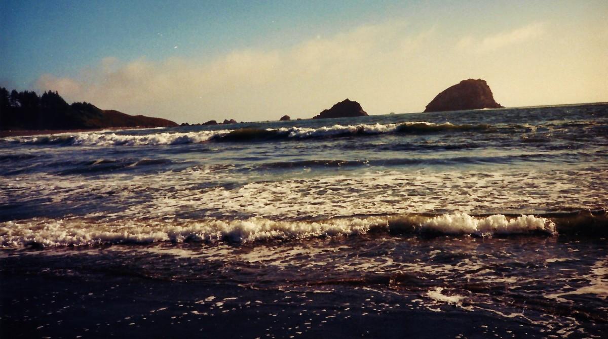 Pacific Ocean along the Oregon Coastline.