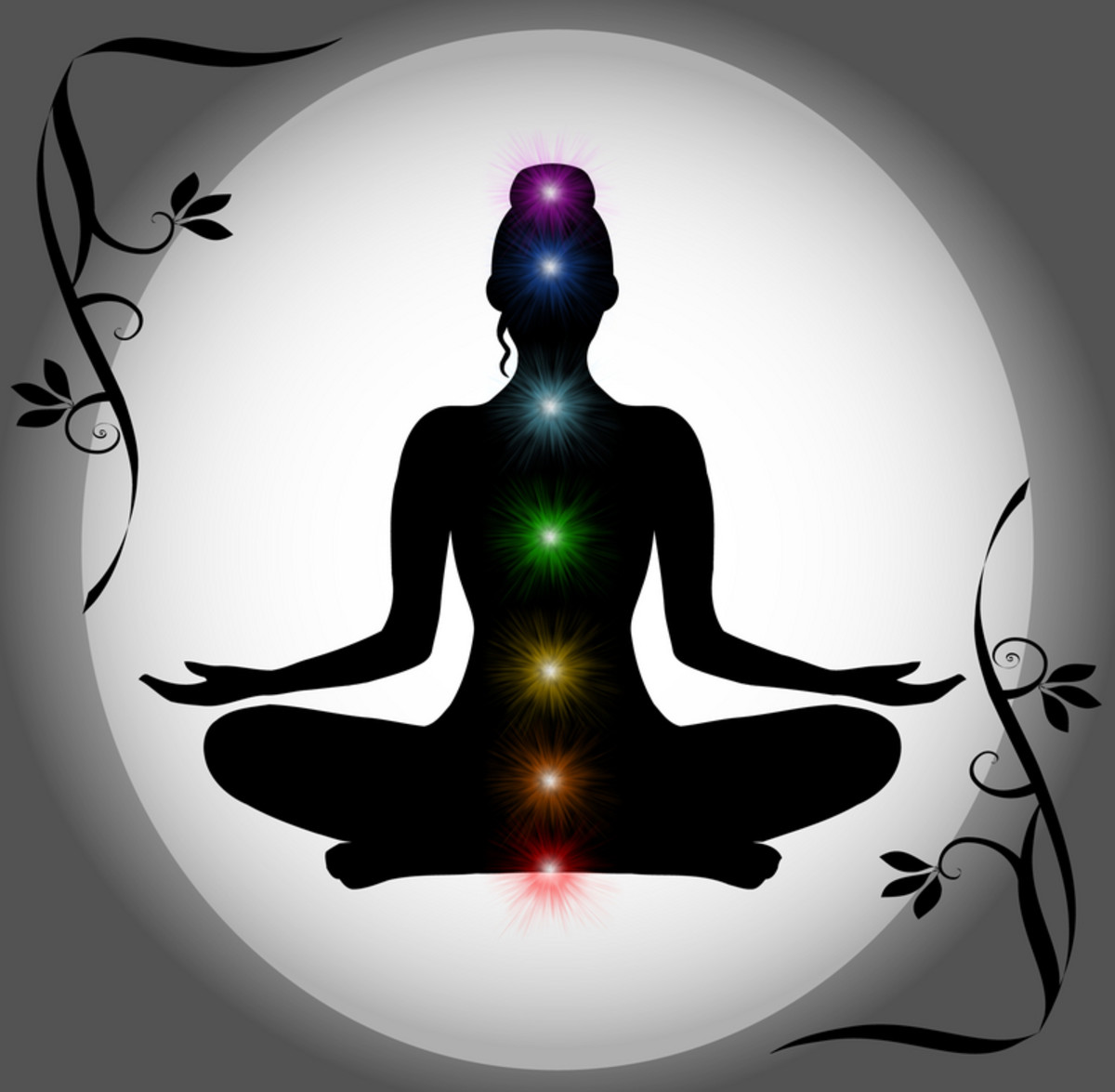 The diaphragm is located between the third and fourth chakra.