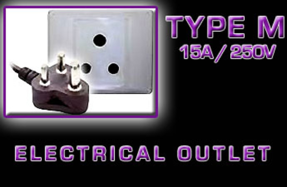 """Type M"" Electrical receptacle"