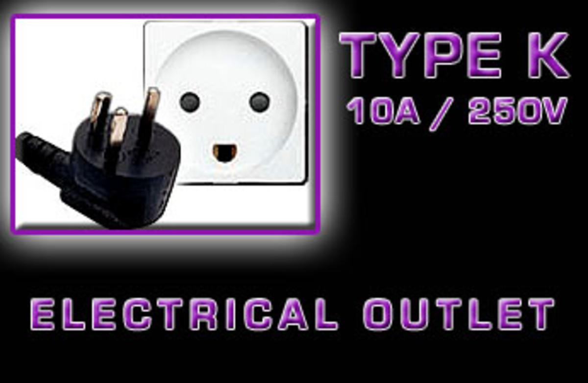 """Type K"" Electrical receptacle"
