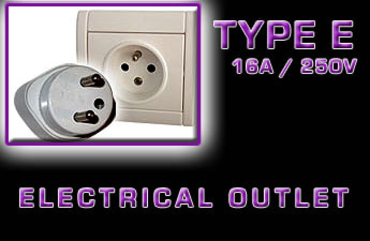 """Type E"" Electrical receptacle"