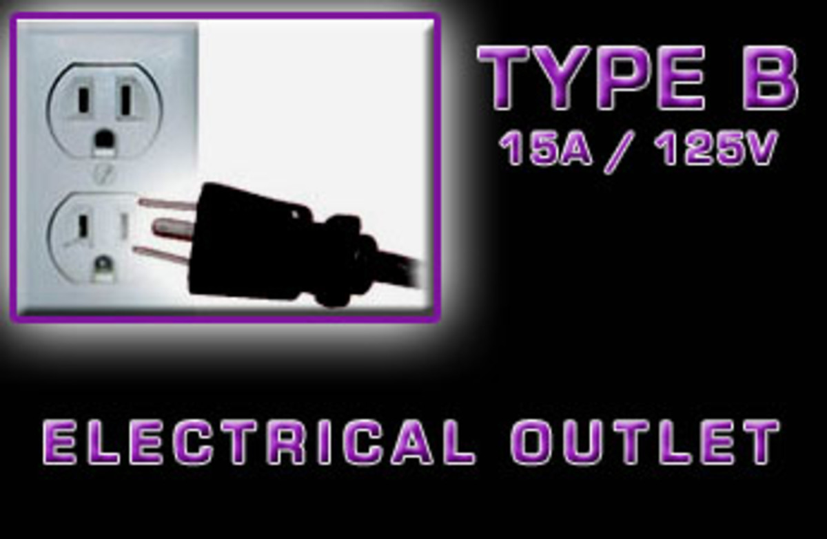 """Type B"" Electrical receptacle"