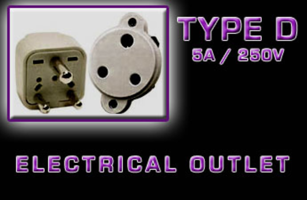 """Type D"" Electrical receptacle"
