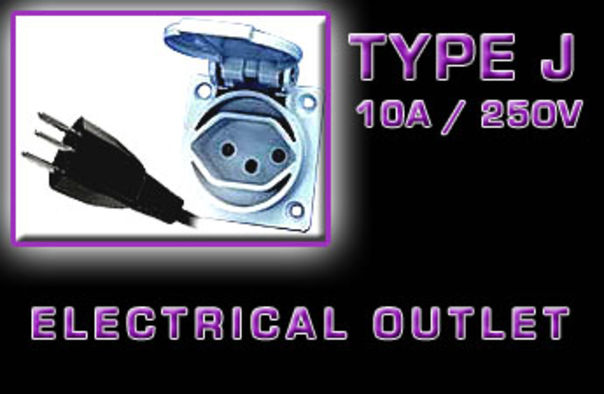 """Type J"" Electrical receptacle"