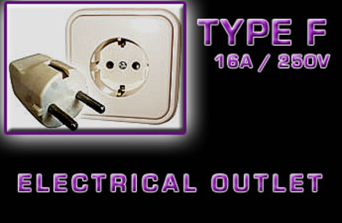 """Type F"" Electrical receptacle"
