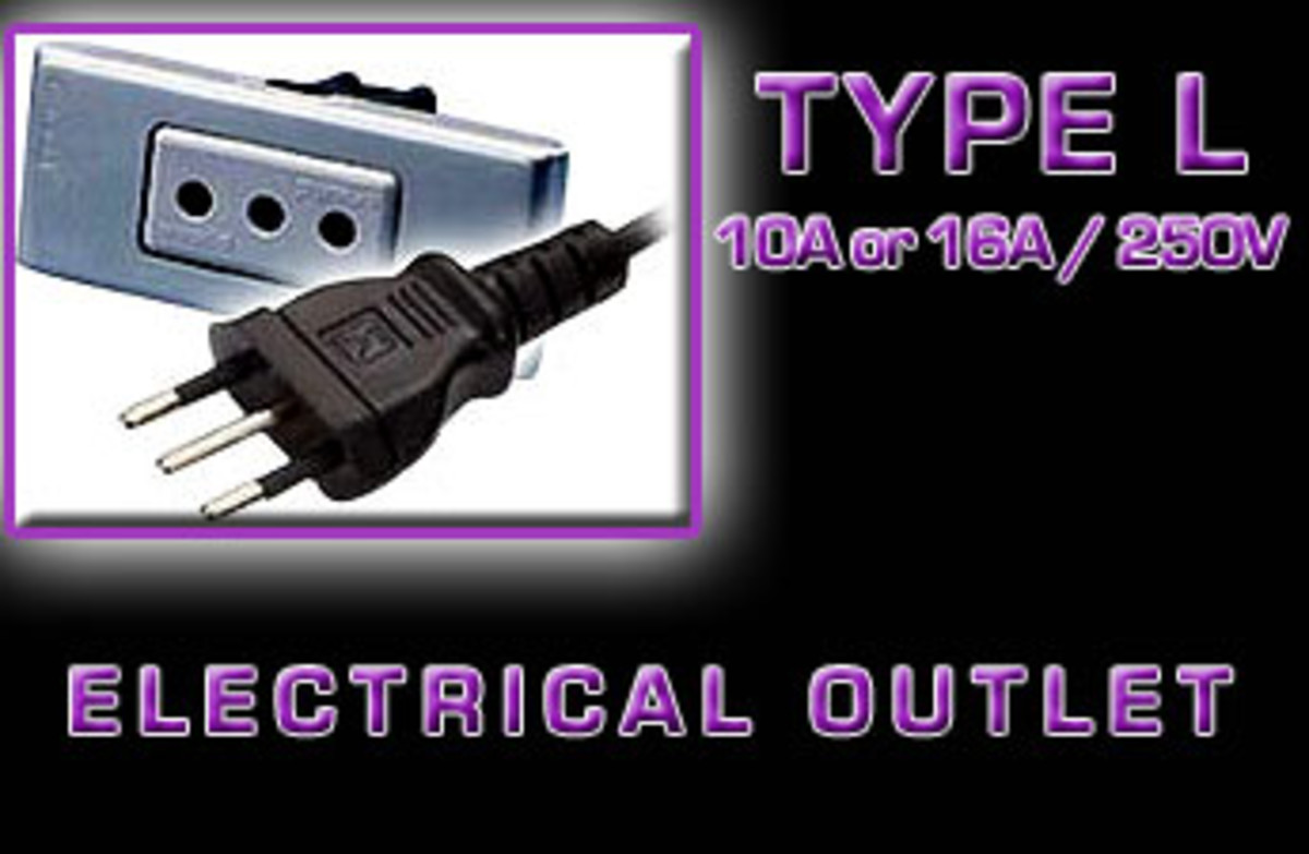 """Type L"" Electrical receptacle"