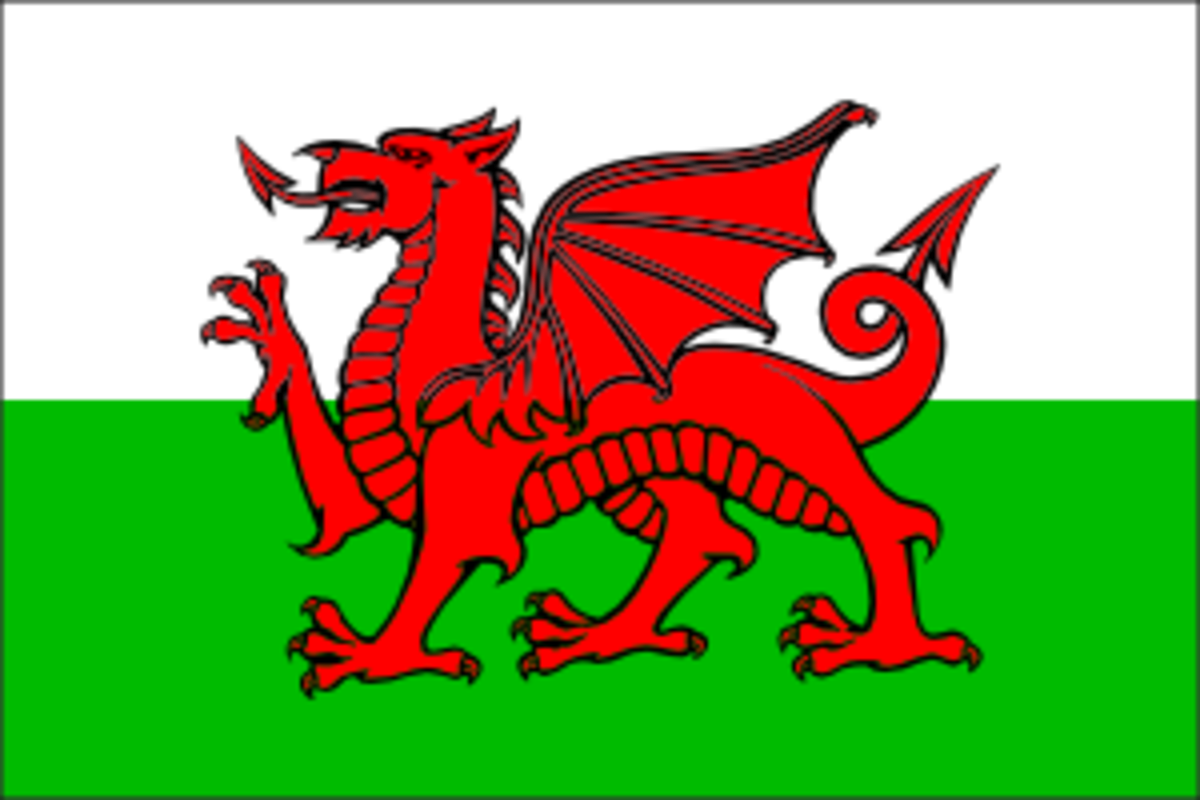 Welsh Flag for a Welsh Recipe