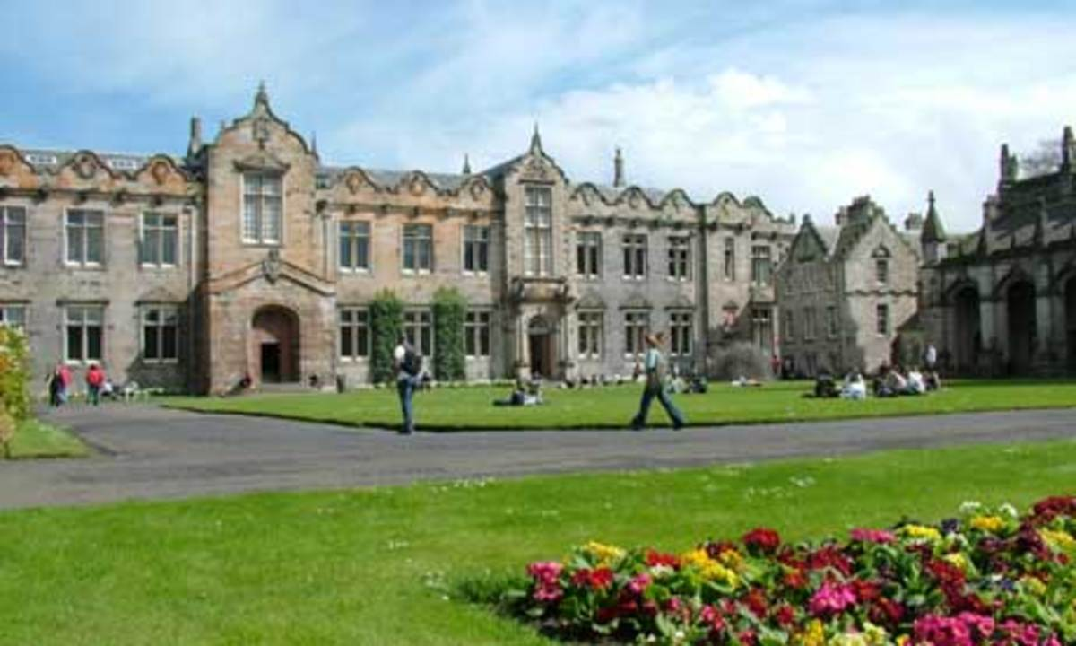 St Salvator's Quadrangle is at the heart of the University of St Andrews