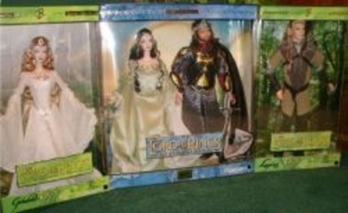 Mattel Lord of the RIngs dolls. Photo © Kathryn E. Darden. All rights reserved.