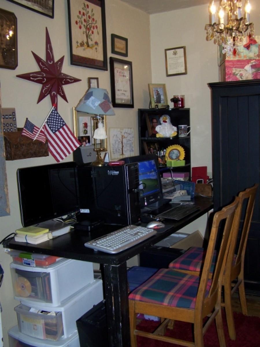 Desk From Old Door
