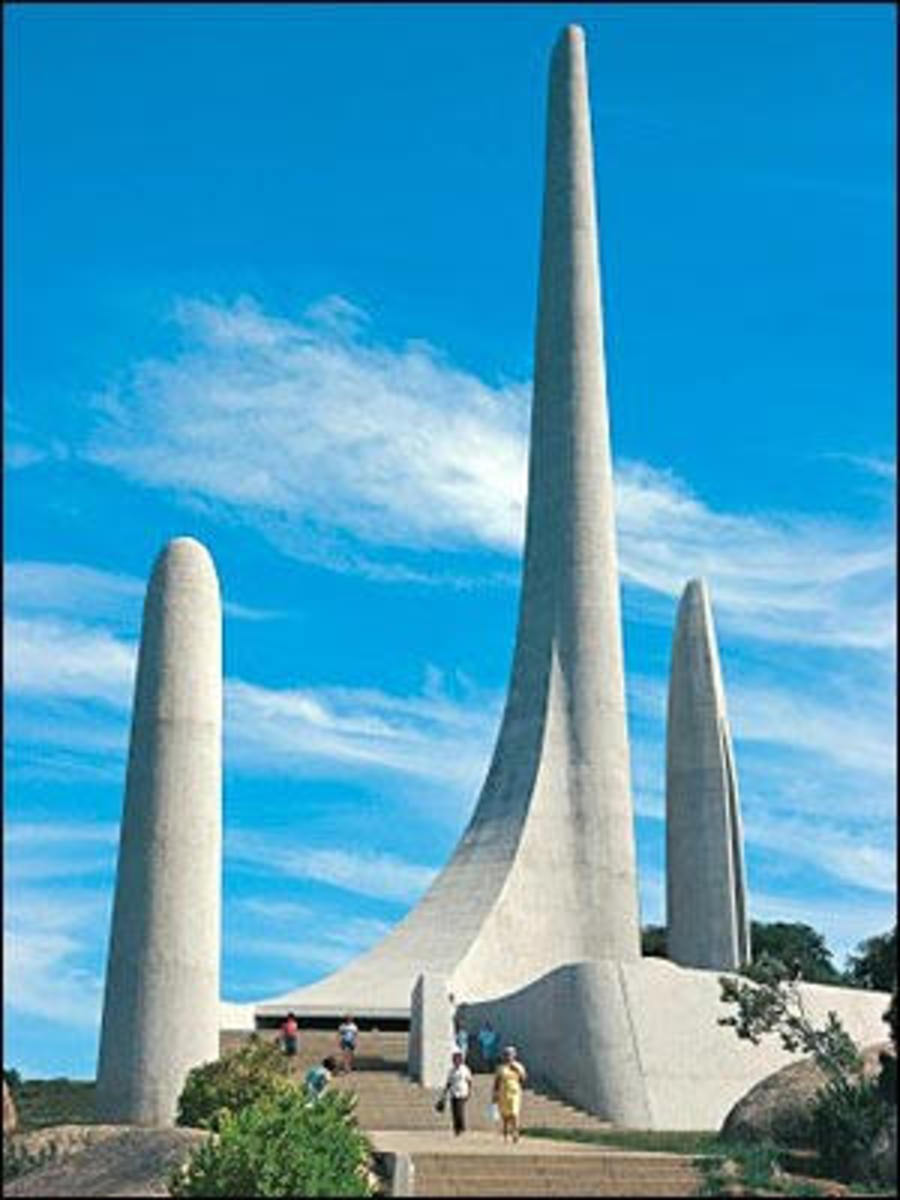 The Afrikaans Language Monument in commemoration of Afrikaans being declared an official language in SA separate from Dutch on 5 May 1925