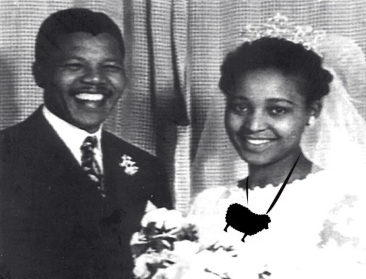 Nelson Mandela and Nomzamo Winnifred Madikizela (1957)