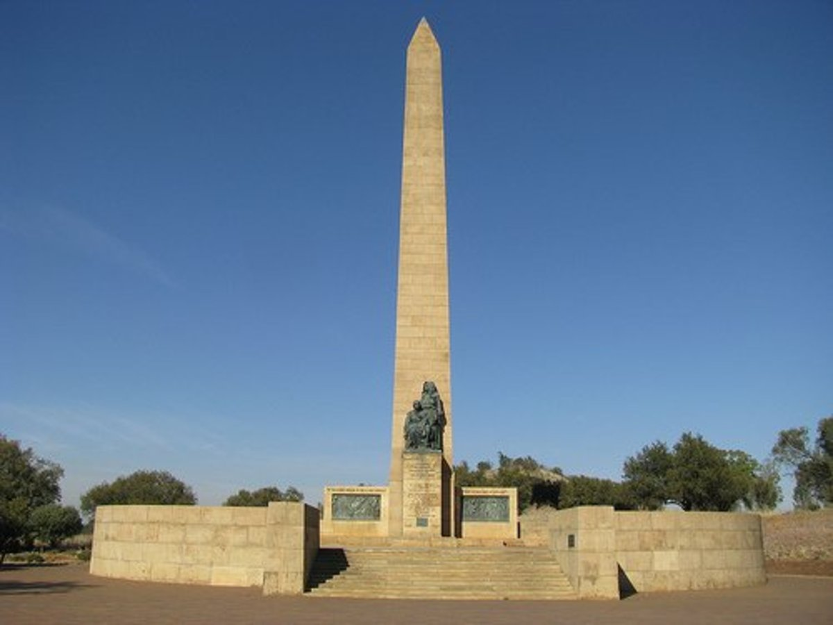 The Nasionale Vrouemonument in commemoration of 27000 Afrikaner women and children who died in the concentration camps set up by the British during the Second Anglo-Boere war (1899  1902)