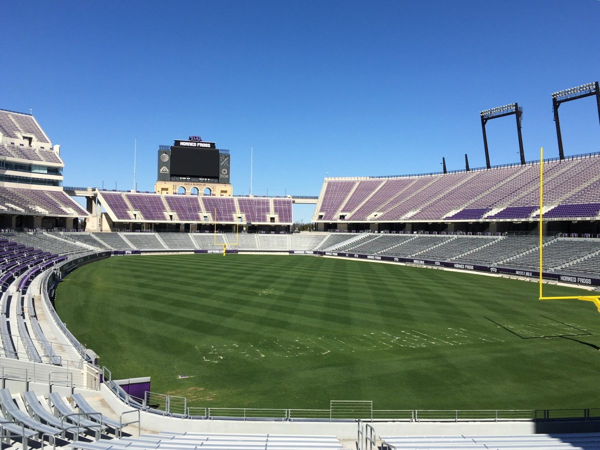 Off-season shot of empty Amon G. Carter Stadium