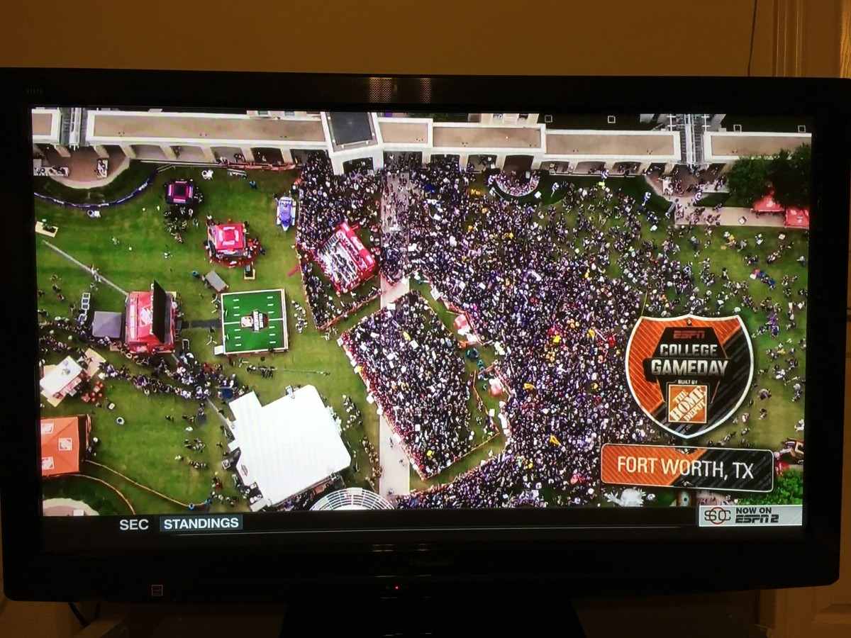 ESPN Game Day on the TCU campus Oct. 7, 2017