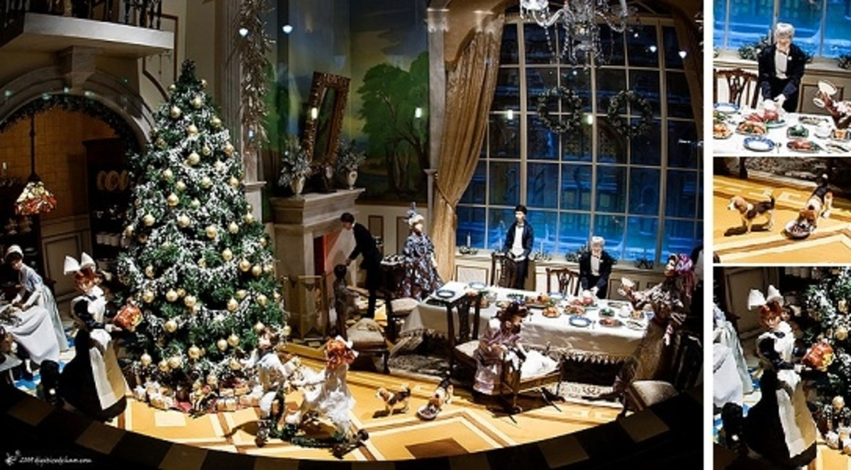 Miniature Christmas Scene Display