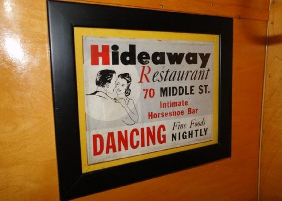 "The retro bar ad this is our inspiration & theme for our camper - the ""Holiday Hideaway."""