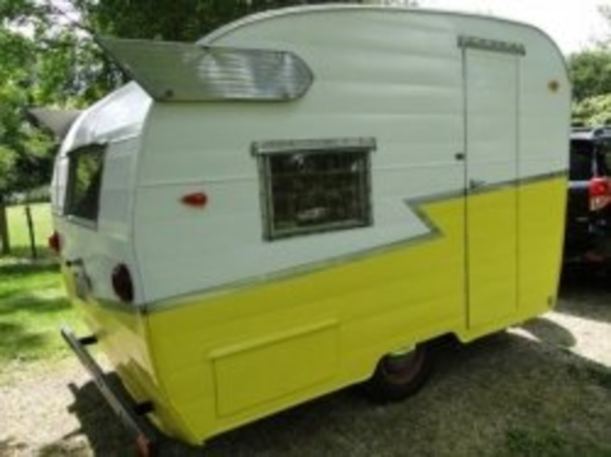 On Camping in a Vintage Shasta Camper